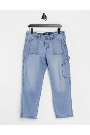 Hollister Boyfriend jeans in mid blue wash