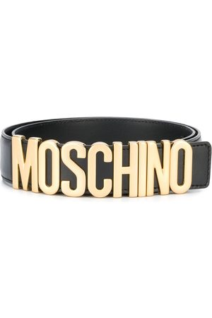 Moschino Men Belts - Logo plaque belt