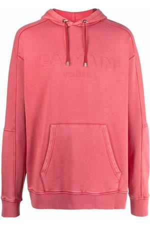 Balmain Men Hoodies - Embossed-logo hoodie