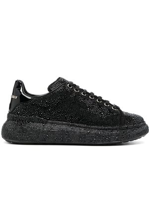 Philipp Plein Women Sneakers - Crystal-embellished low-top sneakers