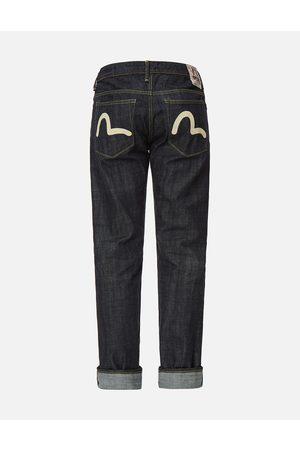 Evisu Men Slim - Handpainted Seagull Slim Fit Selvedge Denim Jeans #2010