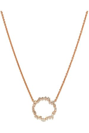 ROSA DE LA CRUZ Women Necklaces - Cascade Eternity Diamond & 18kt Rose- Necklace - Womens - Rose