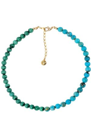 Fry Powers Women Necklaces - Turquoise & Malachite 14kt Gold-plated Choker - Womens - Multi