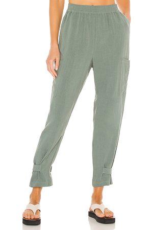 Bobi Women Pants - BLACK Indio Linen Pant in .