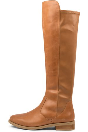 ZIERA Women Knee High Boots - Sallies Xf Zr Tan Boots Womens Shoes Casual Long Boots