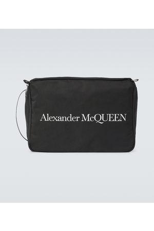 Alexander McQueen Men Toiletry Bags - Logo printed travel case