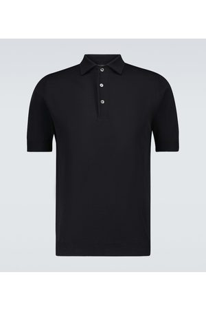 Thom Sweeney Men Polo Shirts - Ice cotton short-sleeved polo shirt