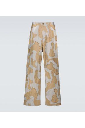 UNDERCOVER Men Wide Leg Pants - Wide-leg camouflage pants