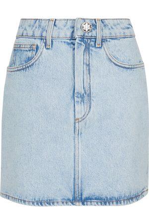 Alessandra Rich Floral cotton gabardine miniskirt