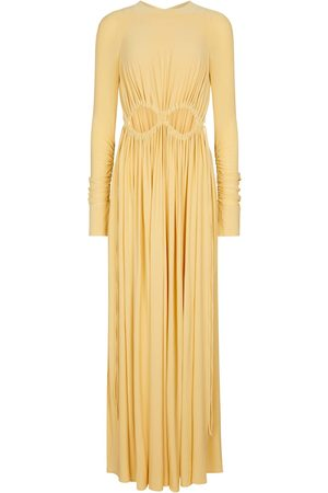 Victoria Beckham Women Maxi Dresses - Cut-out ruched maxi dress