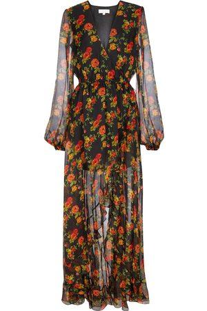 Caroline Constas Women Maxi Dresses - Liv floral silk chiffon maxi dress