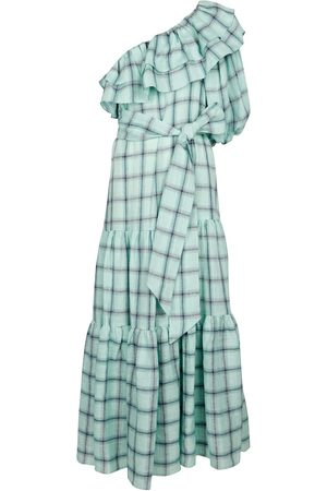 Lisa Marie Fernandez Women Maxi Dresses - Arden checked linen maxi dress