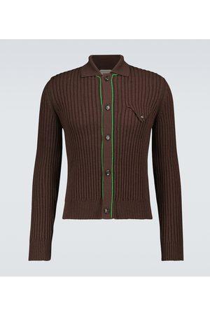 Bottega Veneta Men Cardigans - Military ribbed pullover cardigan