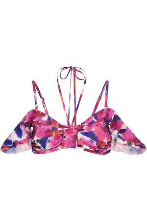 Isabel Marant Skyros floral bikini top