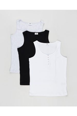 Cotton On 3 Pack Maternity Henley Tank The Iconic Exclusive - Maternity Singlets ( , & Marle) 3-Pack Maternity Henley Tank - The Iconic Exclusive