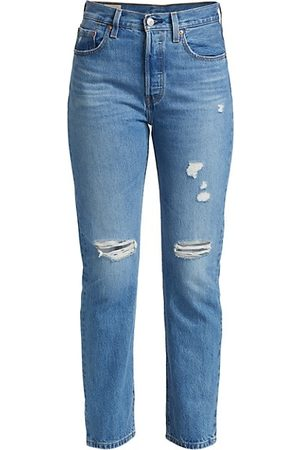 Levi's 501® High-Rise Distressed Straight Jeans