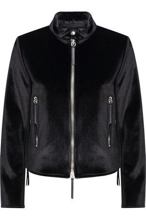 Giuseppe Zanotti Women Jackets - Velvet zip-up jacket