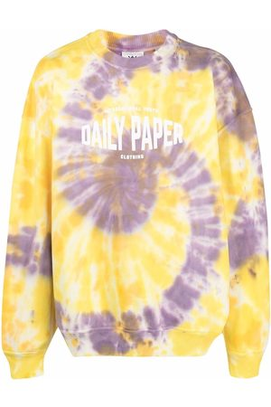 Daily paper X Newseum tie-dye print sweatshirt