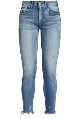 Moussy Diana Distressed Skinny Crop Jeans