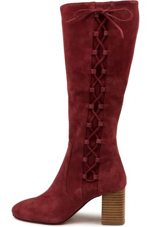 Mollini Spells Mo Dk Rose Boots Womens Shoes Casual Long Boots