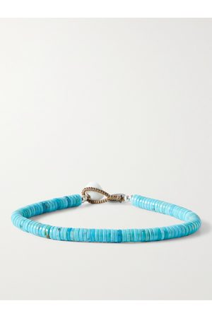 Mikia Turquoise and Sterling Silver Beaded Bracelet