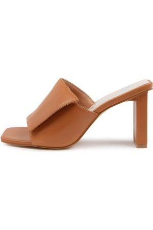 Sol Sana Holden Mule Ss Toffee Sandals Womens Shoes Casual Heeled Sandals