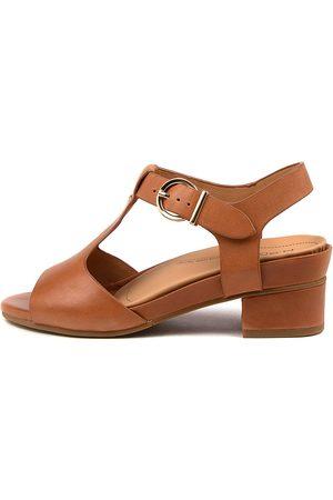 Ziera Annabel Xw Zr Tan Sandals Womens Shoes Comfort Heeled Sandals