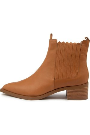 SKIN Zurich Sn Tan Boots Womens Shoes Casual Ankle Boots