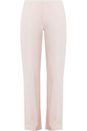 SKIN Double-layer Cotton Pyjama Trousers - Womens - Light