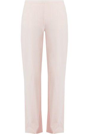 SKIN Double-layer Cotton Pyjama Trousers - Womens - Light