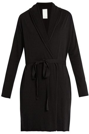 SKIN Double-layer Pima Cotton-jersey Wrap Robe - Womens