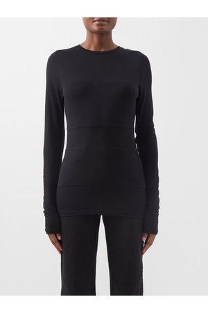Givenchy Men Short Sleeve - Logo-tape Cotton-jersey T-shirt - Mens