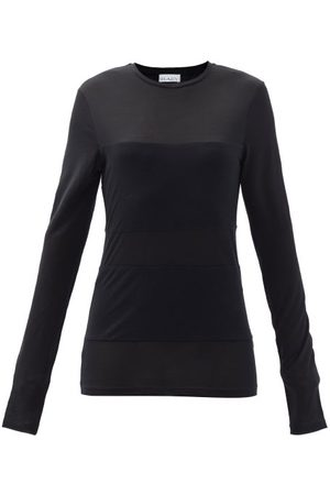Raey Double-panel Long-sleeved Sheer T-shirt - Womens
