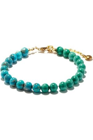 Fry Powers Turquoise & Malachite 14kt Gold-plated Anklet - Womens - Multi
