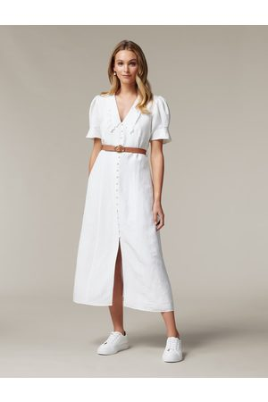 Forever New Heather Embroidered Collar Midi Dress
