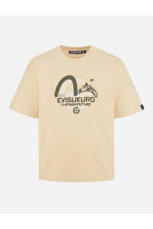 Evisu Mountain and Seagull Print T-shirt