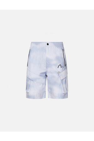 Evisu Foggy Camouflage Print Shorts