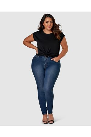 Indigo Tonic Kylie Curve Skinny Jeans - High-Waisted Kylie Curve Skinny Jeans