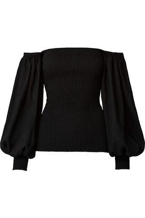 AKRIS Women Strapless Tops - Square-Neck Smocked Top