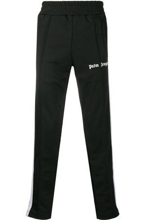 Palm Angels Men Joggers - Logo-print slim track pants