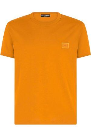Dolce & Gabbana Men Short Sleeve - Logo-patch cotton T-shirt