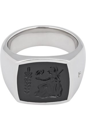 TOM WOOD Men Rings - Athena onyx-embellished ring