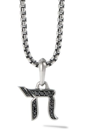 David Yurman Men Necklaces - 17mm diamond chain amulet enhancer pendant