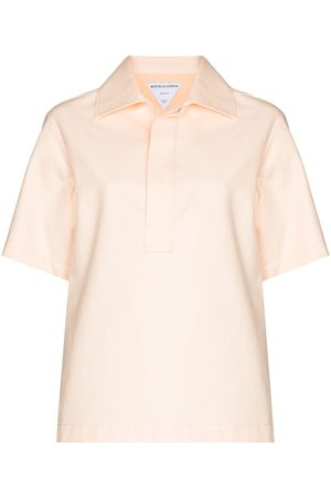 Bottega Veneta Women Polo Shirts - Short-sleeve cotton polo shirt