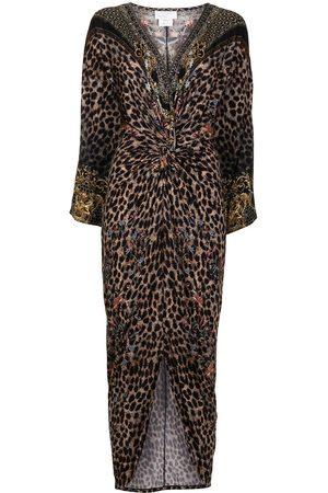 Camilla Abingdon Palace long split-front twist dress