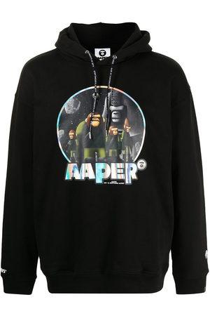 AAPE BY A BATHING APE AAPER print hoodie