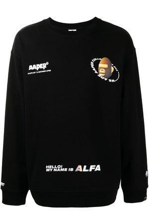 AAPE BY A BATHING APE Logo-print round neck sweatshirt