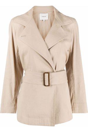 Vince Women Blazers - Double-breasted belted blazer