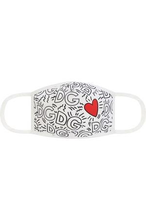 Dolce & Gabbana Boys Scarves - Logo and heart print face mask