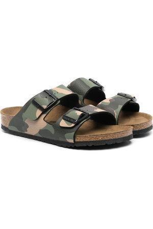 Birkenstock Girls Sandals - Arizona camouflage print sandals